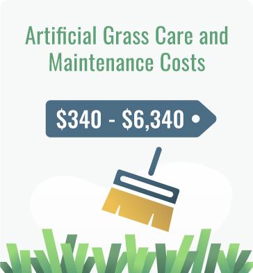 artificial grass maintenance cost