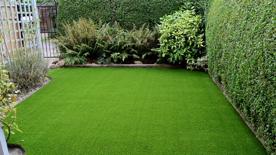 artificial grass in San Diego backyard