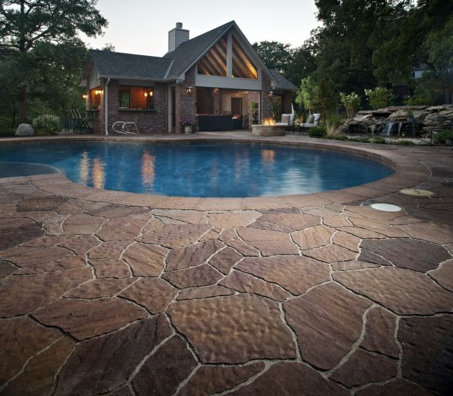 25 ways to save water without getting rid of your natural Flagstone pavers around pool