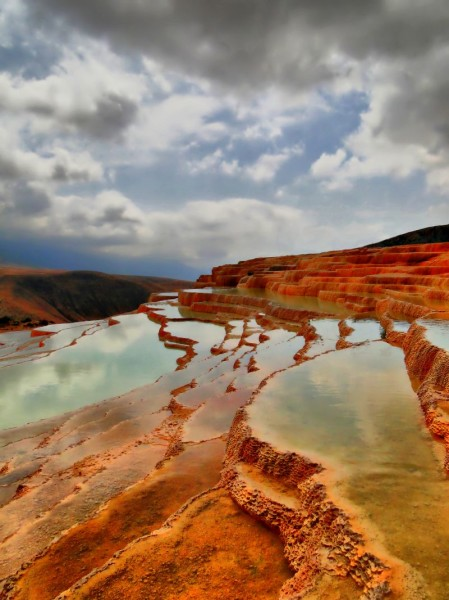 Badab-e Surt Travertine Terrace by M. Samaee