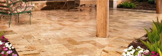 Belgard Milan Series with Travertine