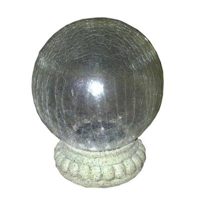 Crackled Glass Gazing Ball Available at Home Depot