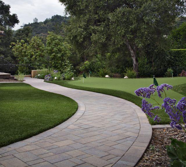 Long Paving Stone Walkway