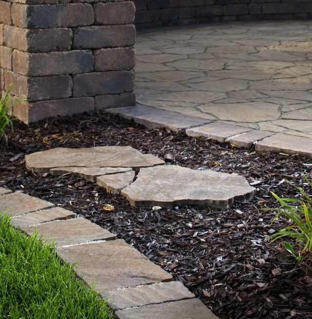 Mulch with Paving Stones