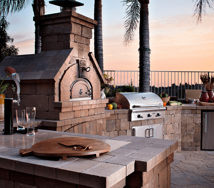 outdoor brick oven design san diego