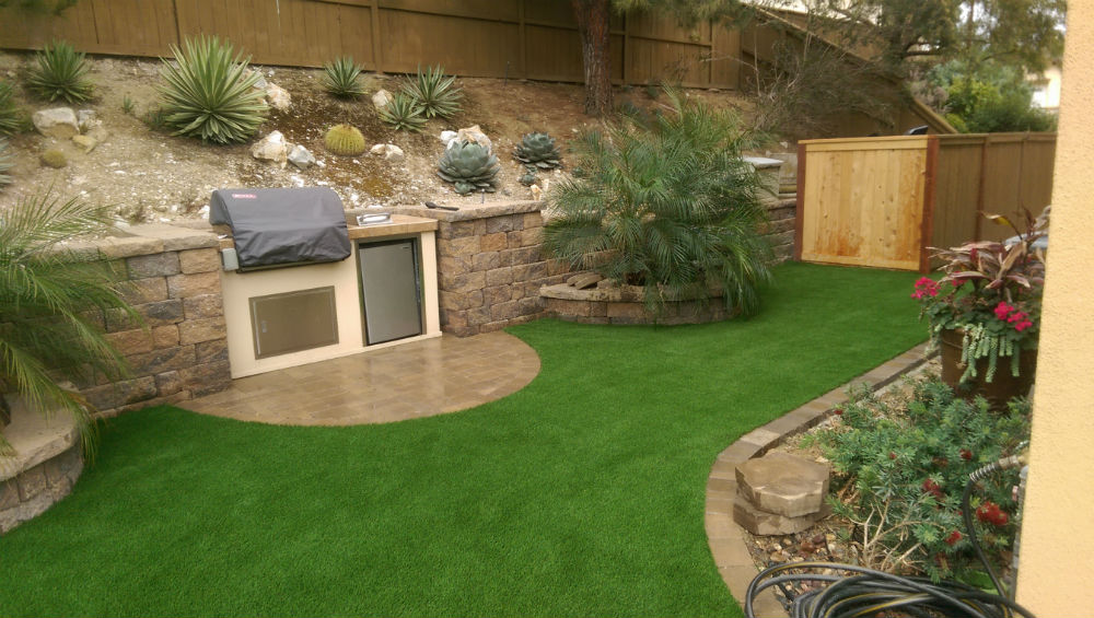 Pavers Artificial Grass Install