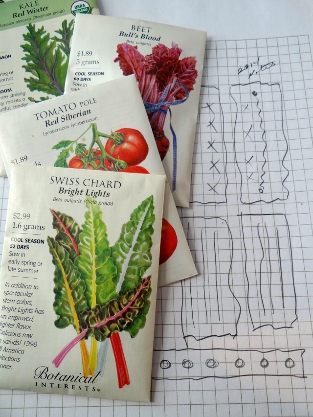 Seed Packets and Garden Plan