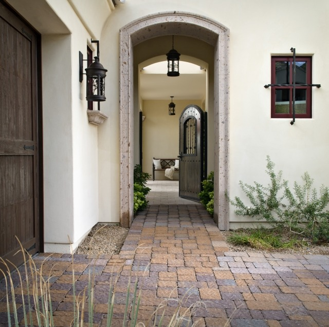 Courtyard Entry Collection And House: How To Keep Mud Out Of The House During Rainy Weather
