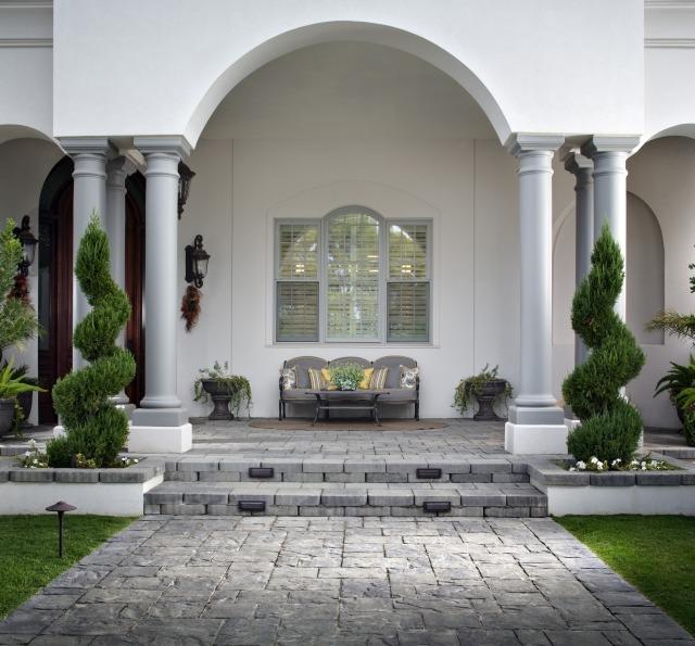 Paving Stone Porch