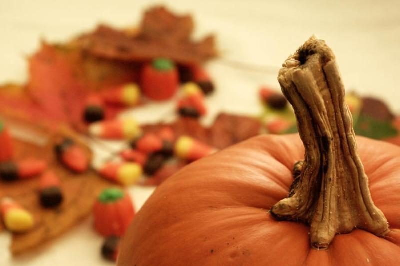 Pumpkin with Halloween Candy