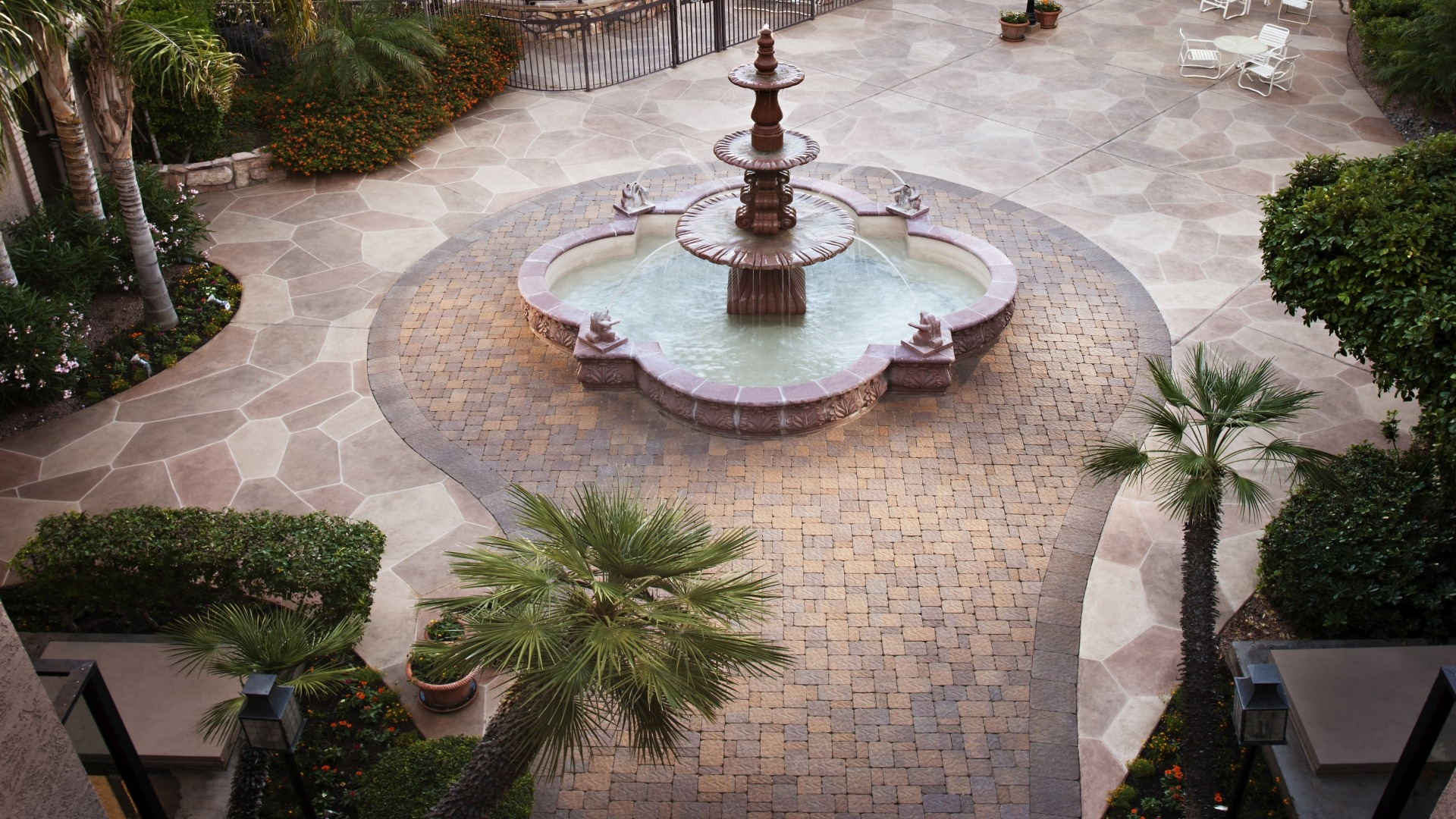 Fountain with Paving Stones