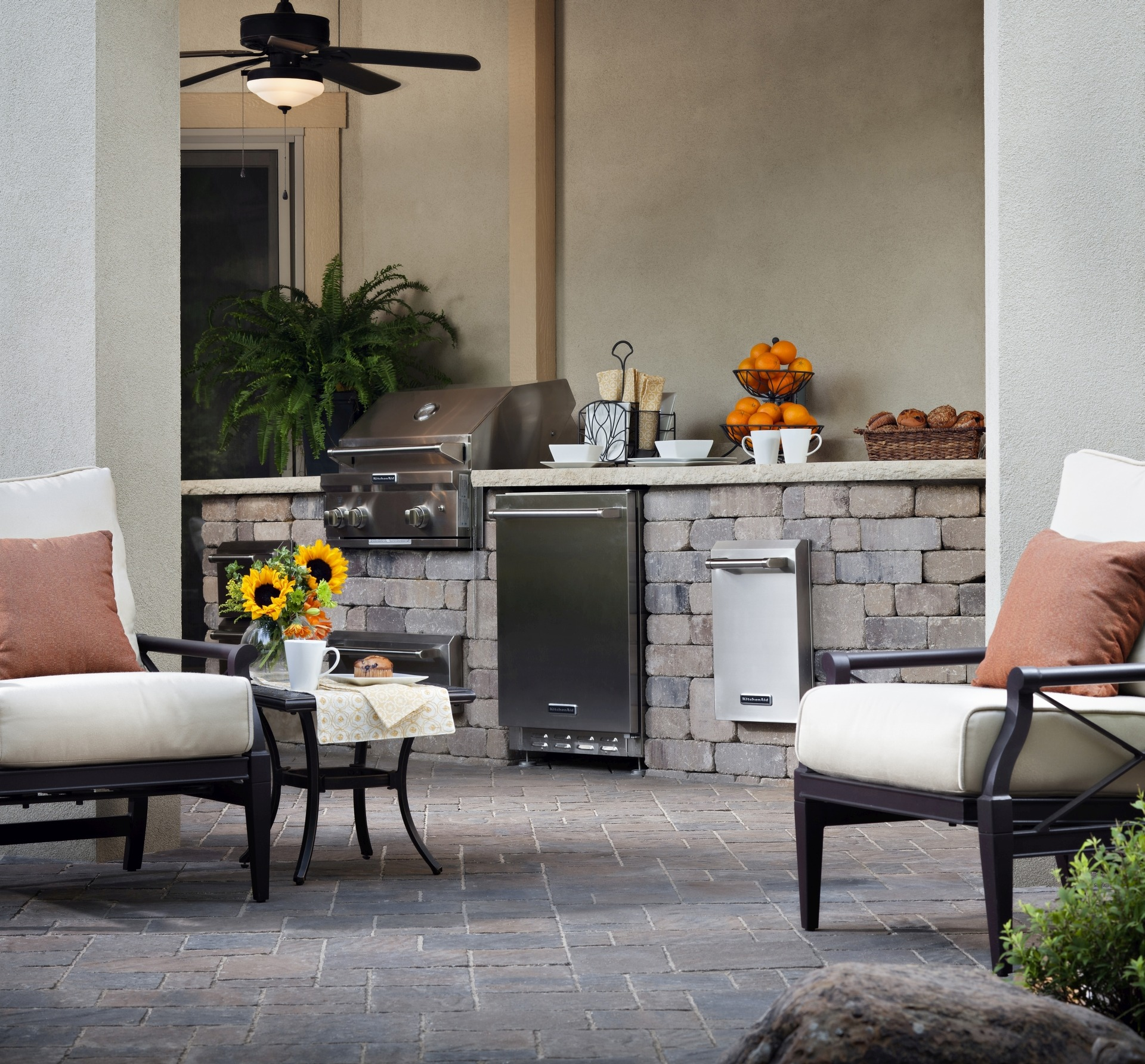 Paving Stone Outdoor Kitchen