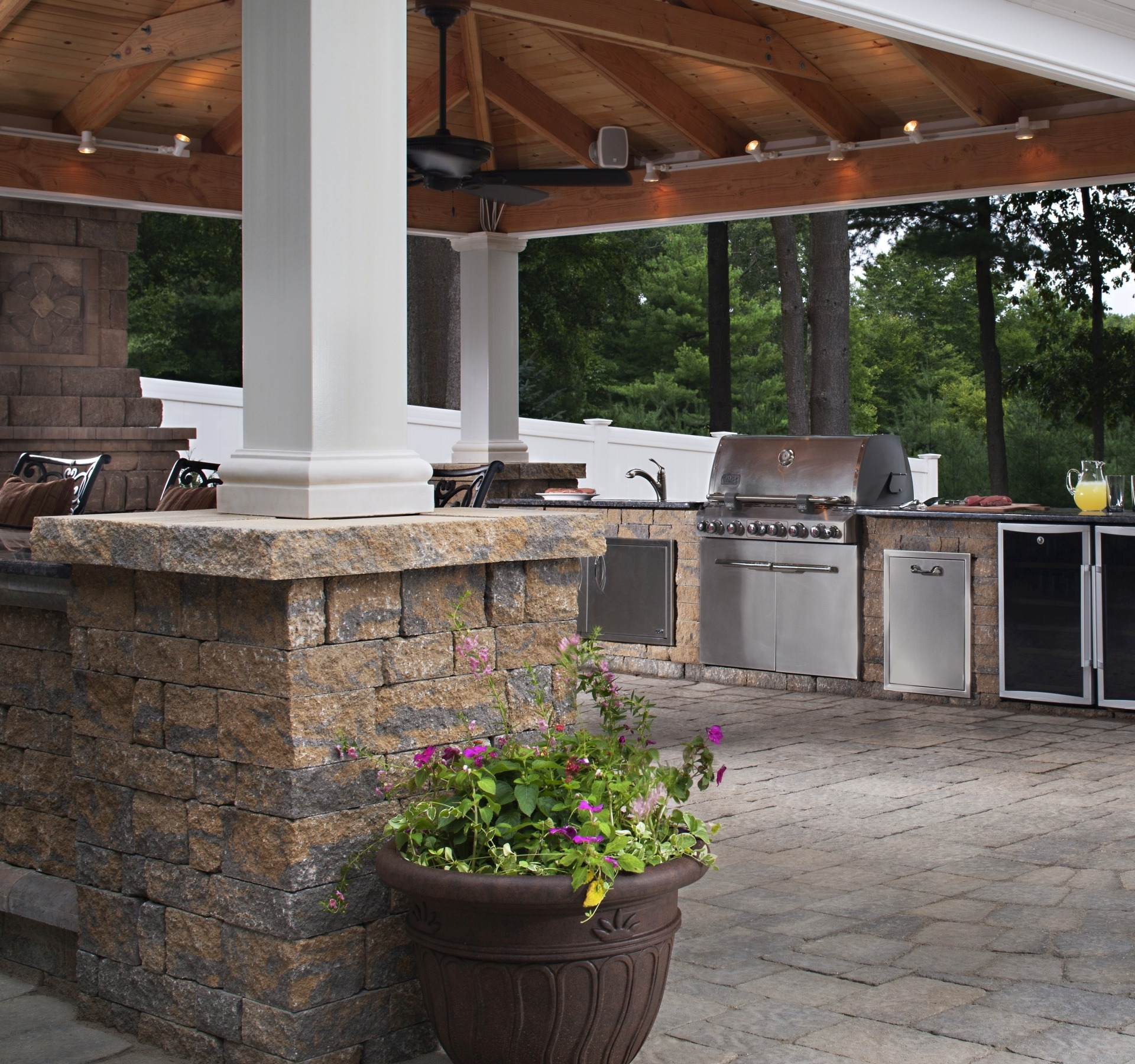 Paving Stones Outdoor Kitchen