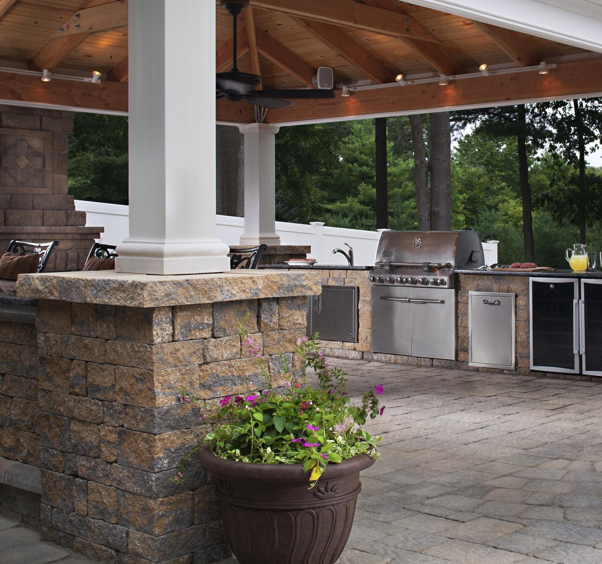 Paving Stones Outdoor Kitchen