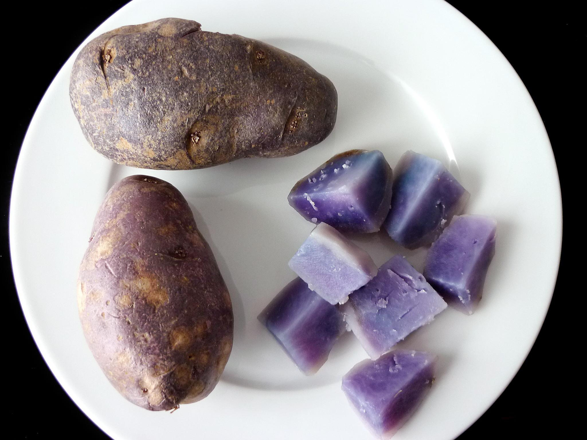 Blue Swede Potatoes