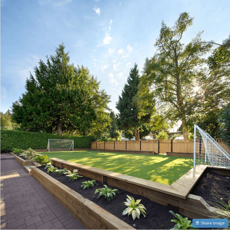 backyard soccer field