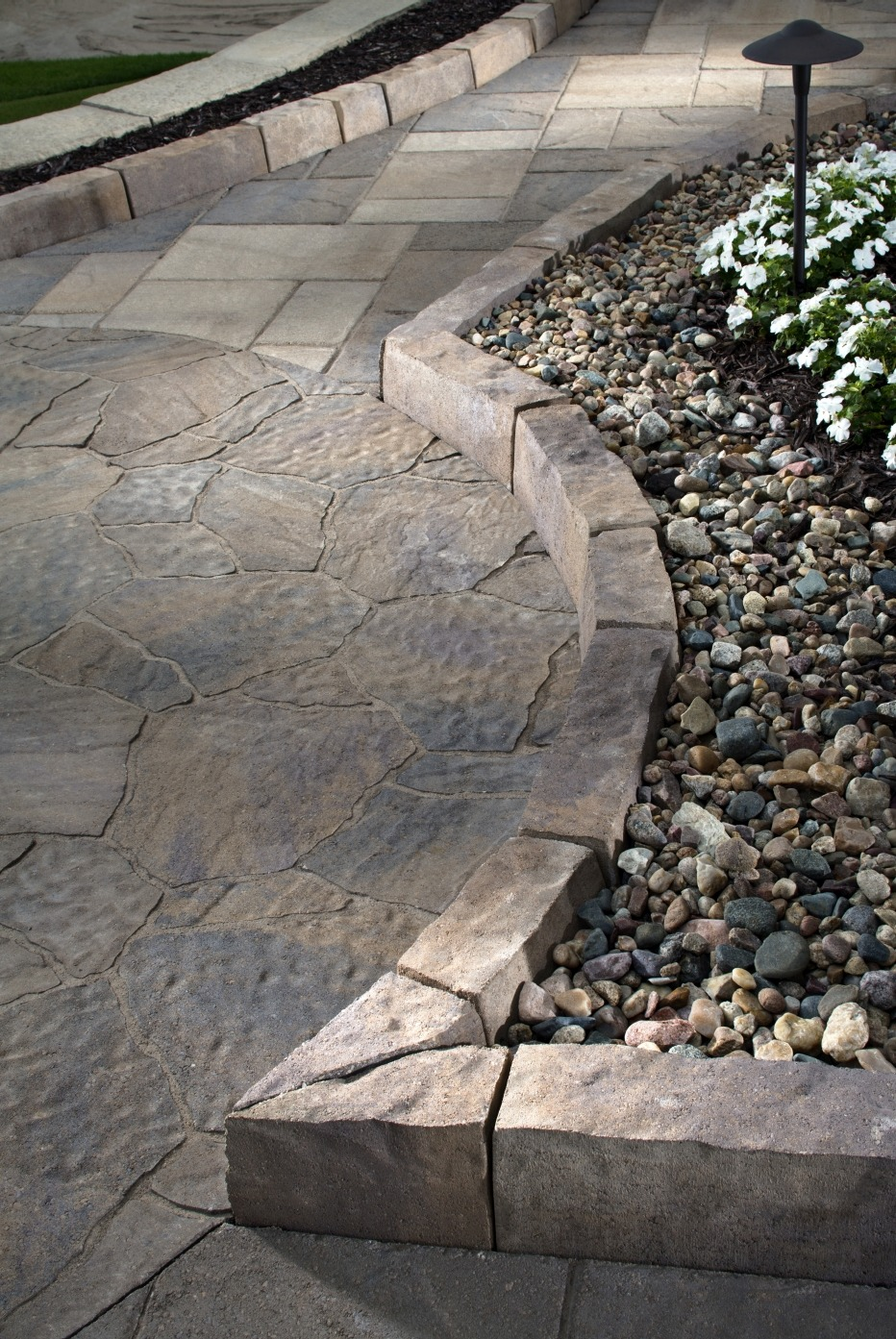 Paving Stone Walkway and Border