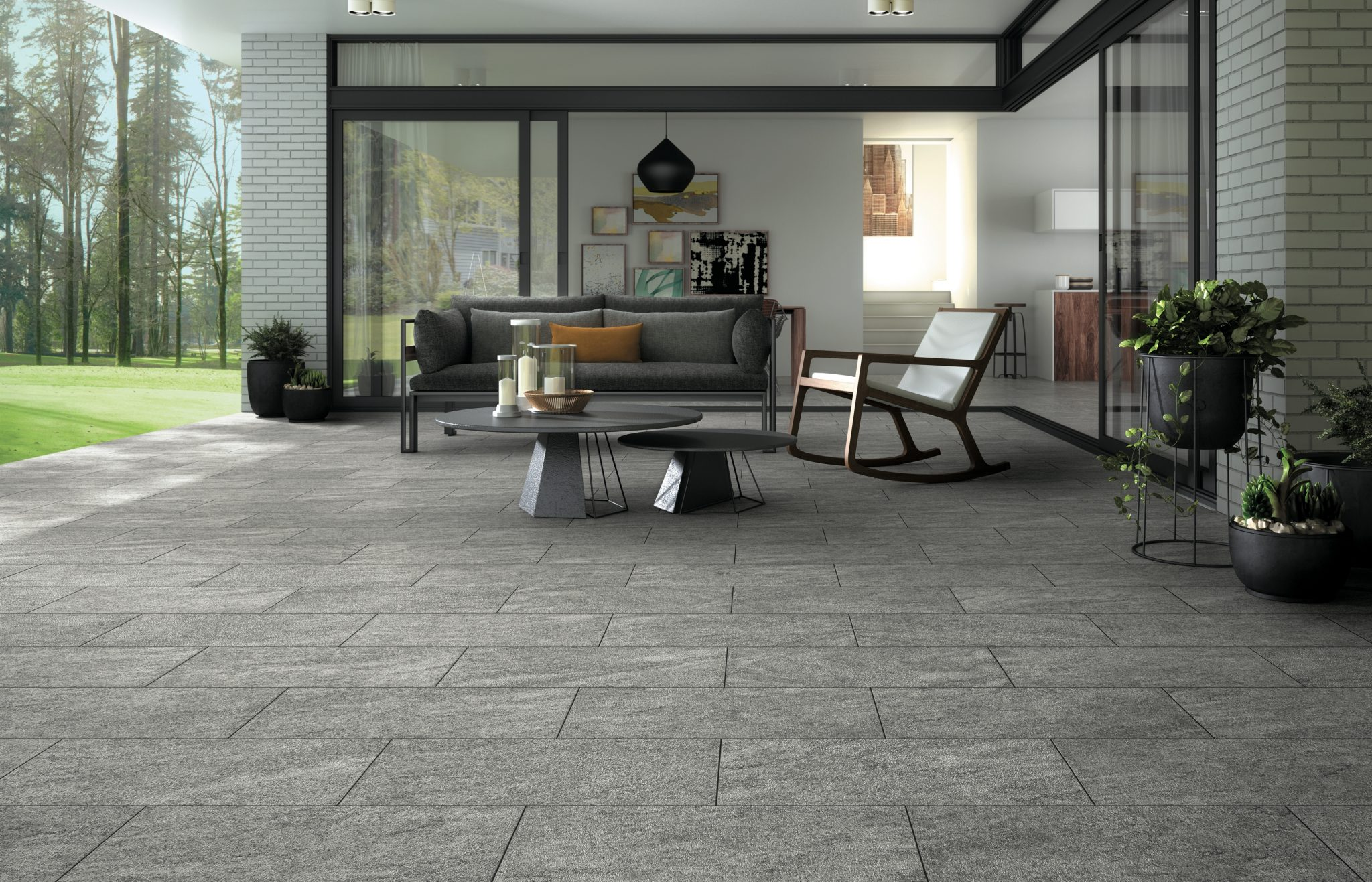 Outdoor Entertaining Area with clean patio pavers