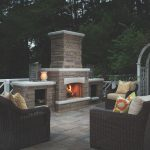 Outdoor Thanksgiving by Patio Fireplace