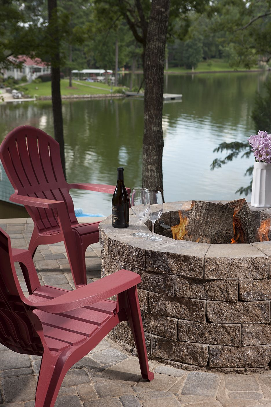 Outdoor Thanksgiving Cocktail Hour by Fire Pit
