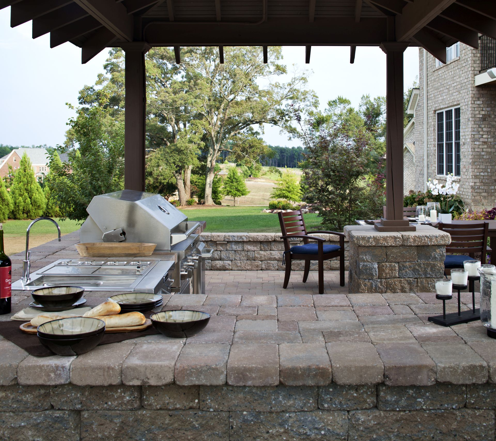 Paving Stone Countertops Outdoor Kitchens