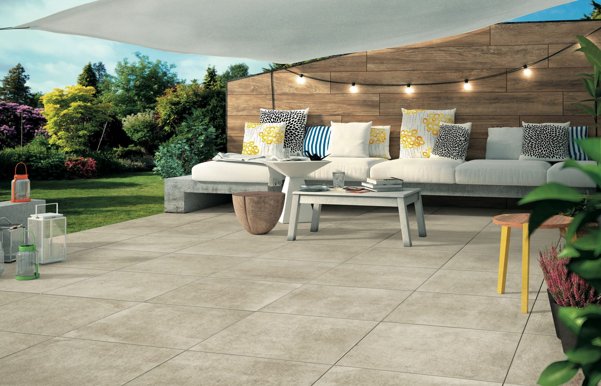 Shade Sails Lower Surface Temperature of Hardscapes and Softscapes