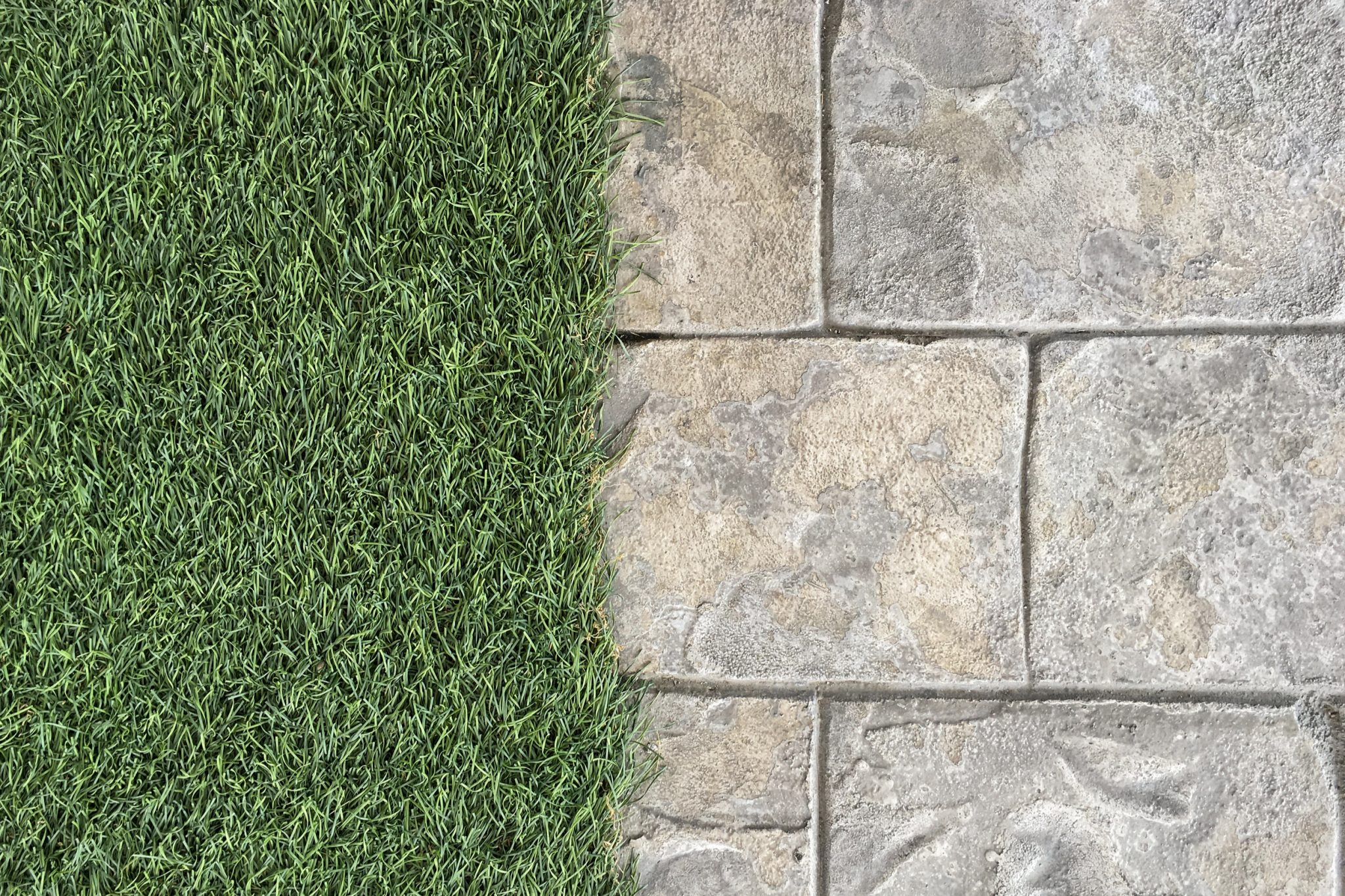 artificial grass matted