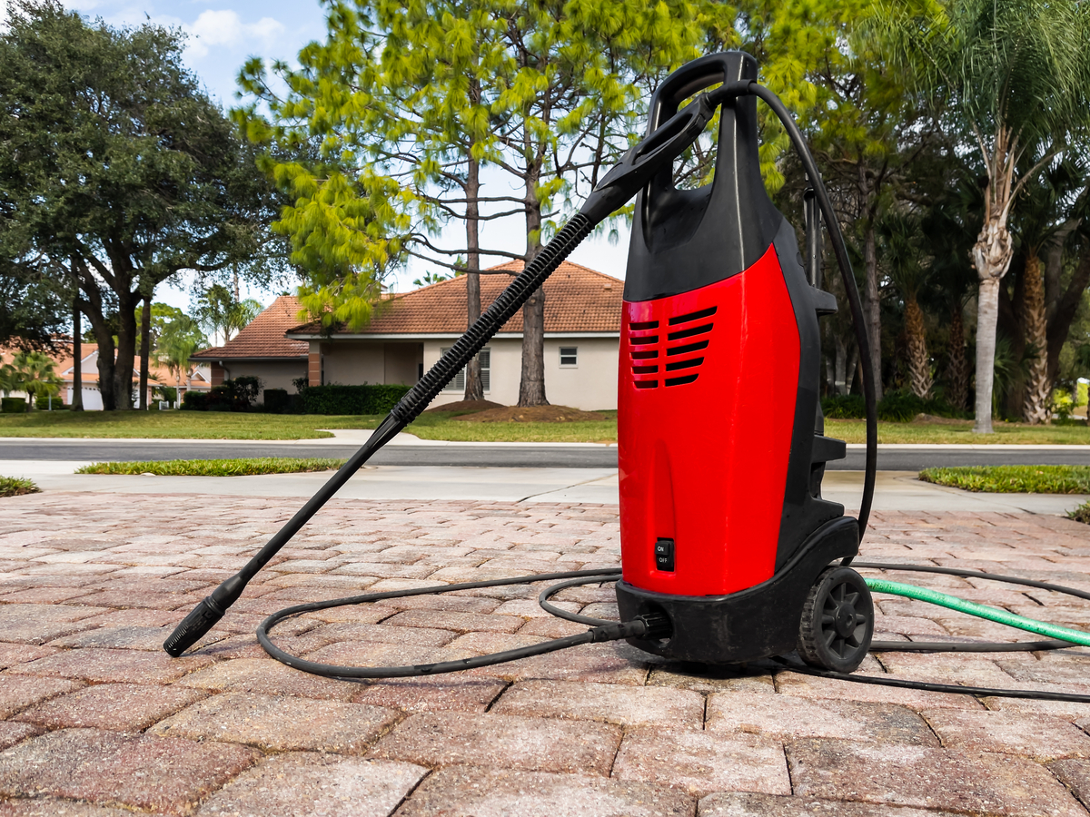 Remove Grease Oil Stains from Concrete Pavers