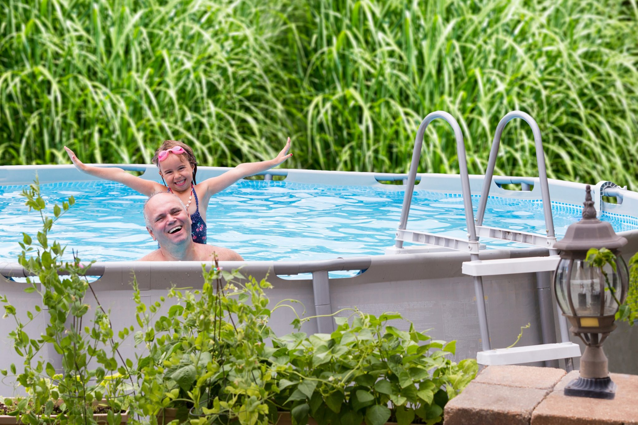 above ground pools artificial grass