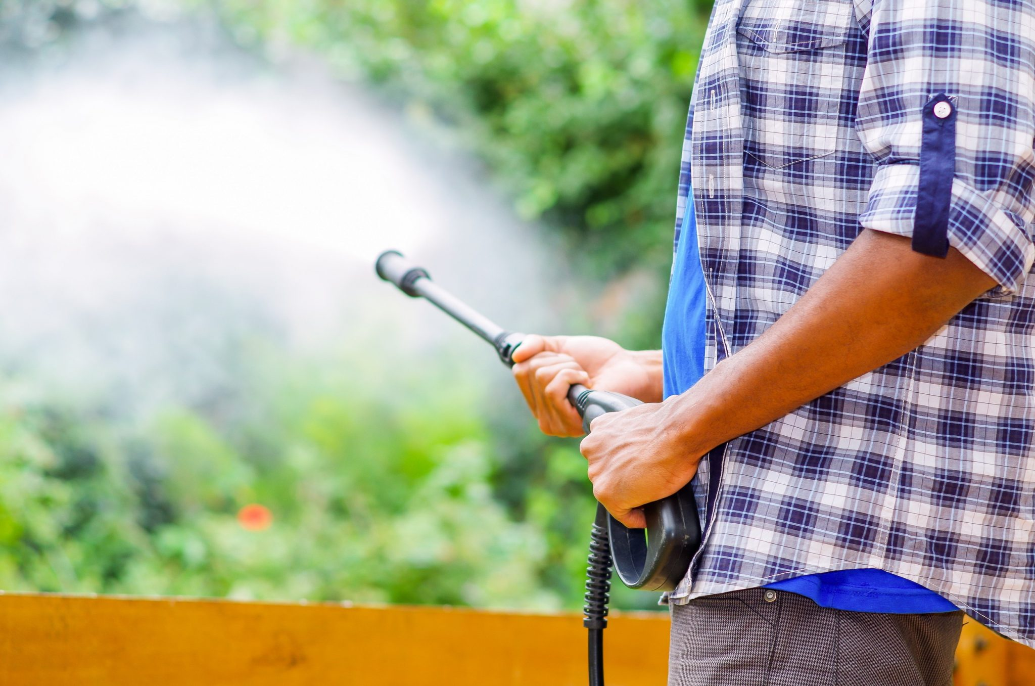 pressure wash artificial turf