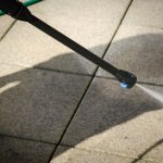 pressure washing concrete pavers