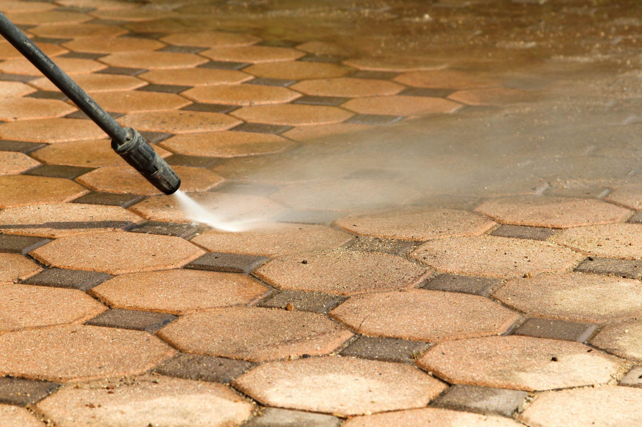 pressure washing pavers