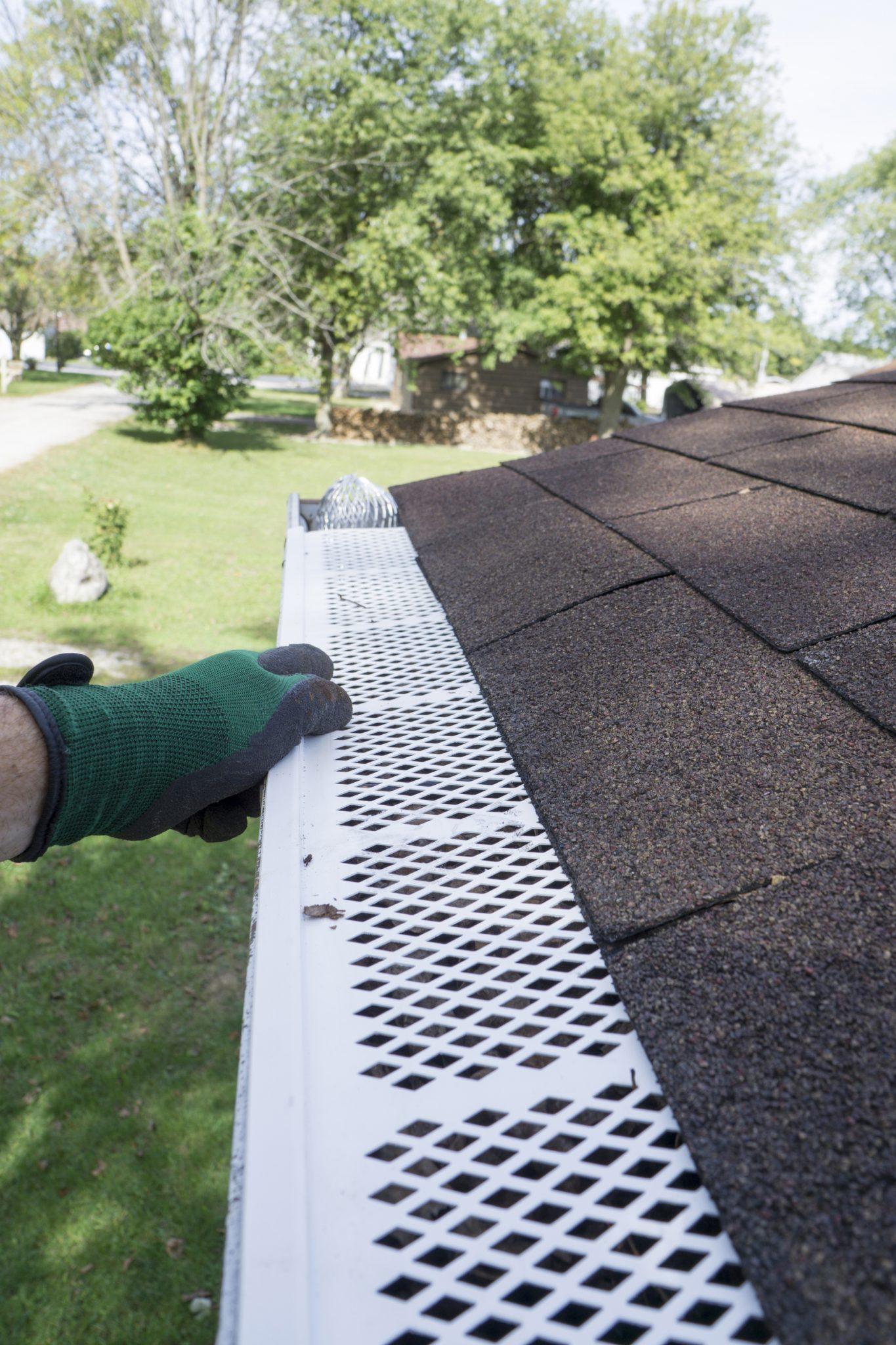 clean rain gutters