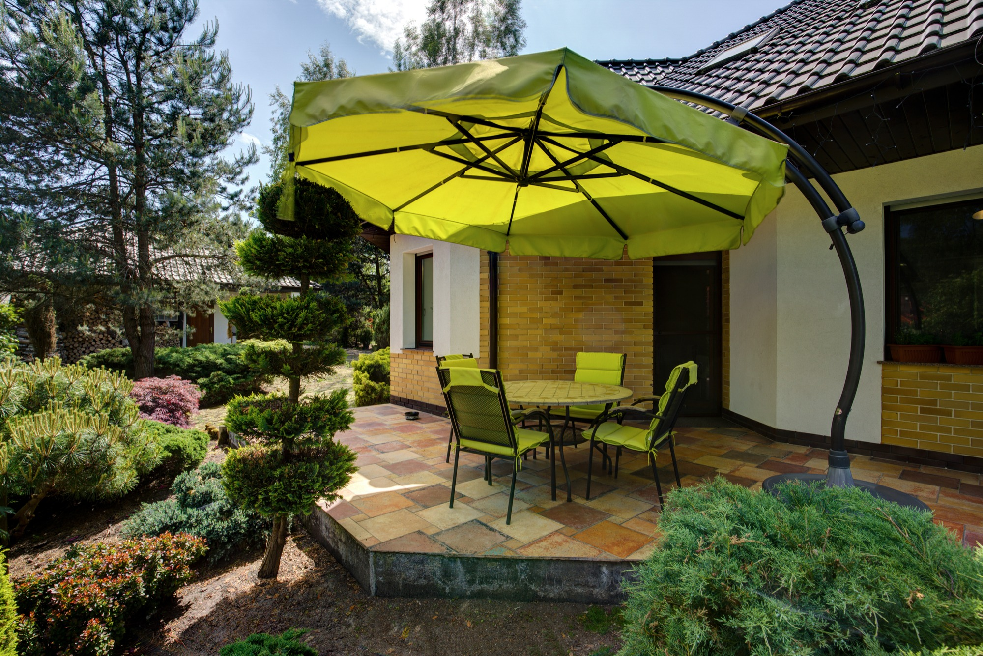 how to add outdoor shade