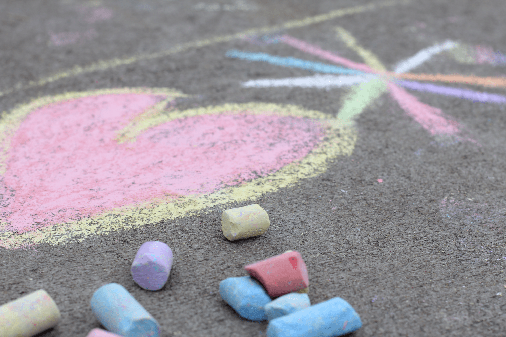 chalk crayon from pavers
