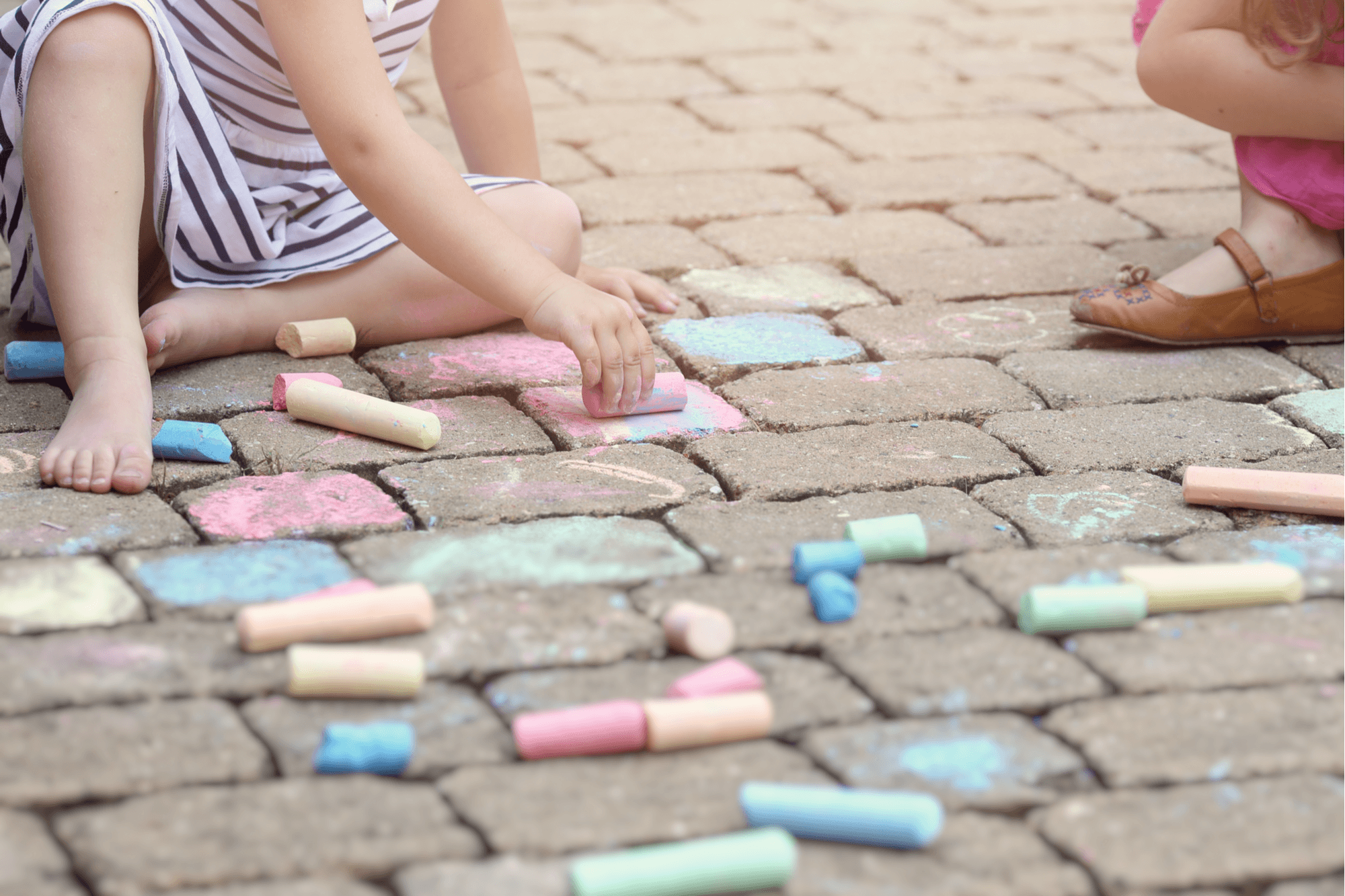 how to remove chalk crayon from pavers