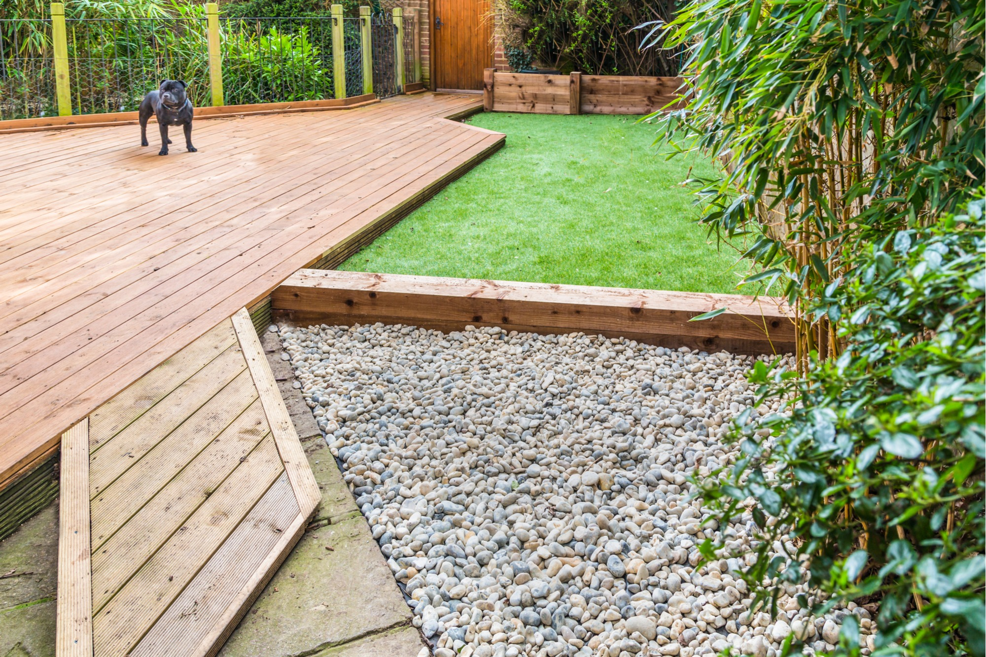 bamboo artificial grass