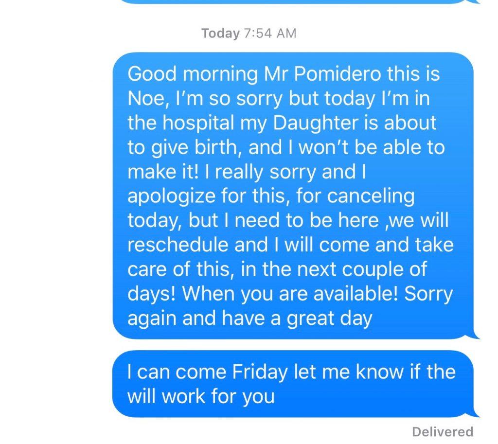 Chris Pomidoro Text Message-1