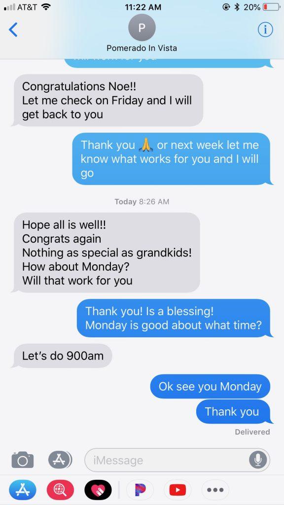 Chris Pomidoro Text Message-2