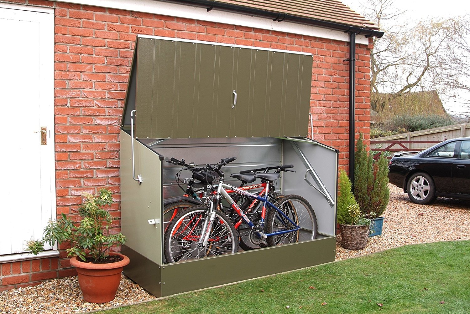 Bosmere Trimetals Bicycle Storage Unit on Amazon