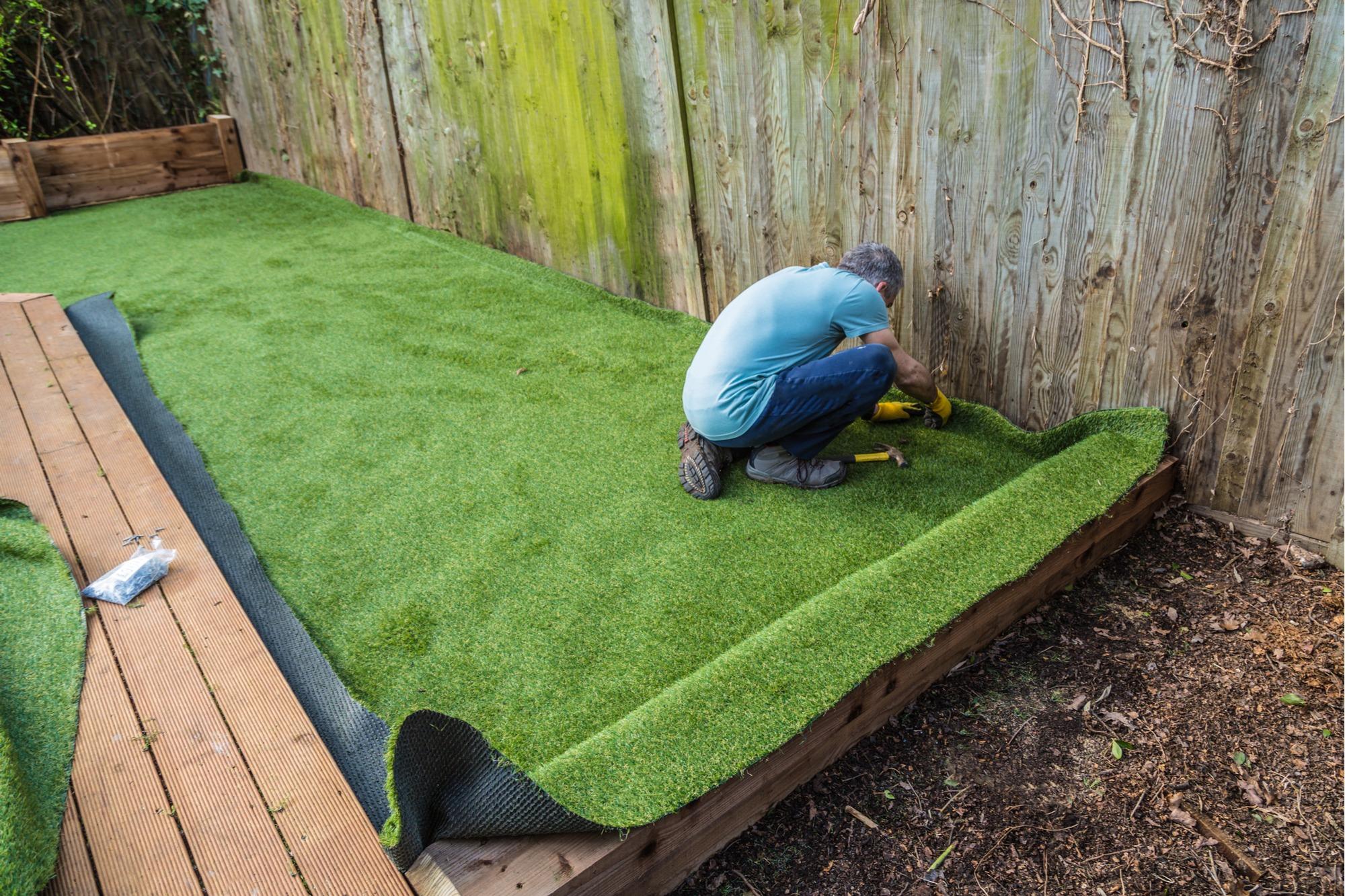 diy artificial grass
