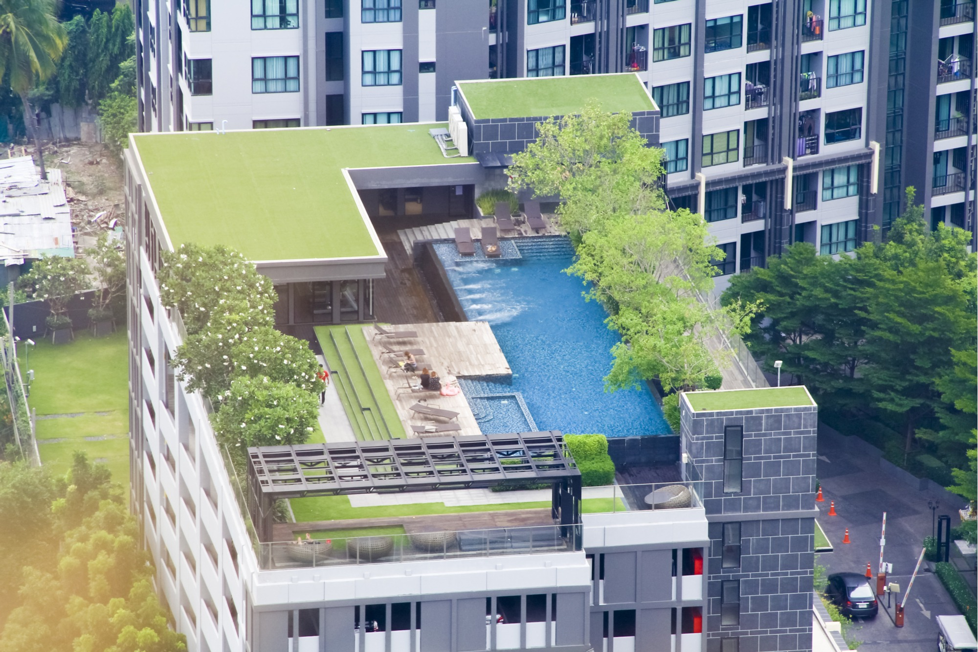 fake grass rooftop
