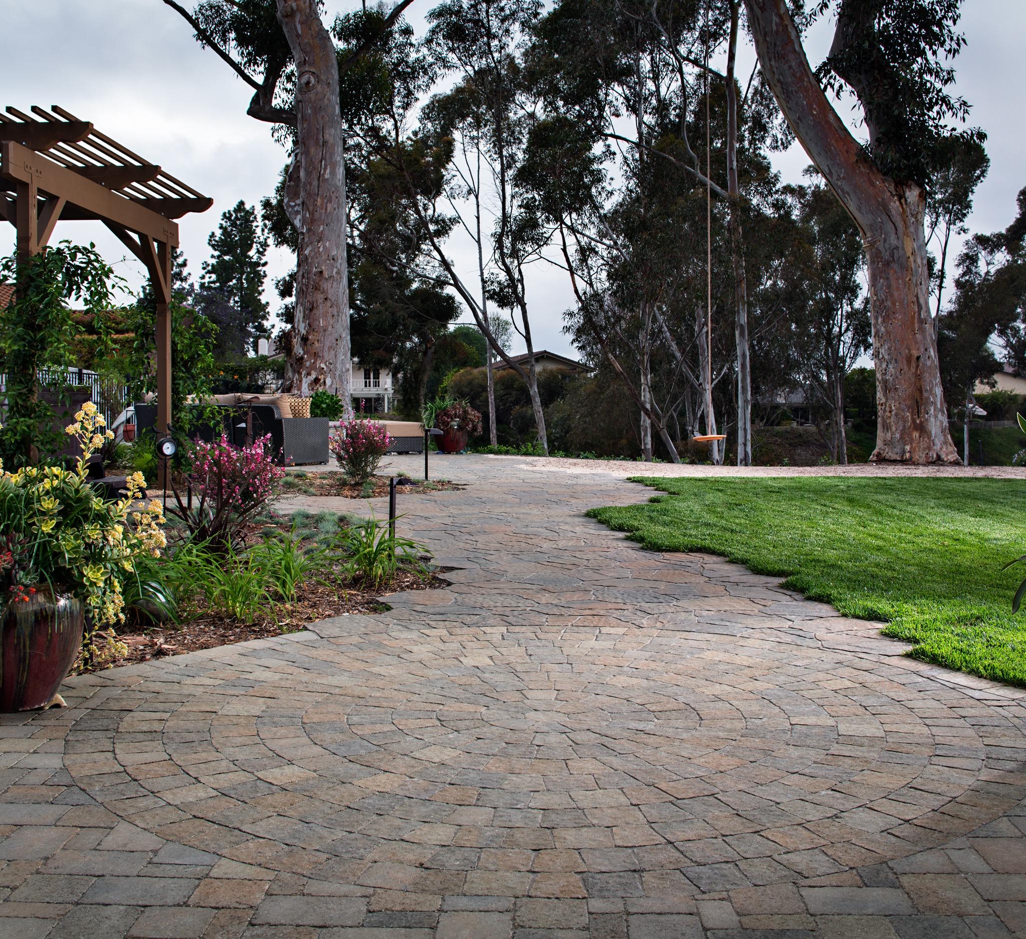 pavers artificial grass installation 1