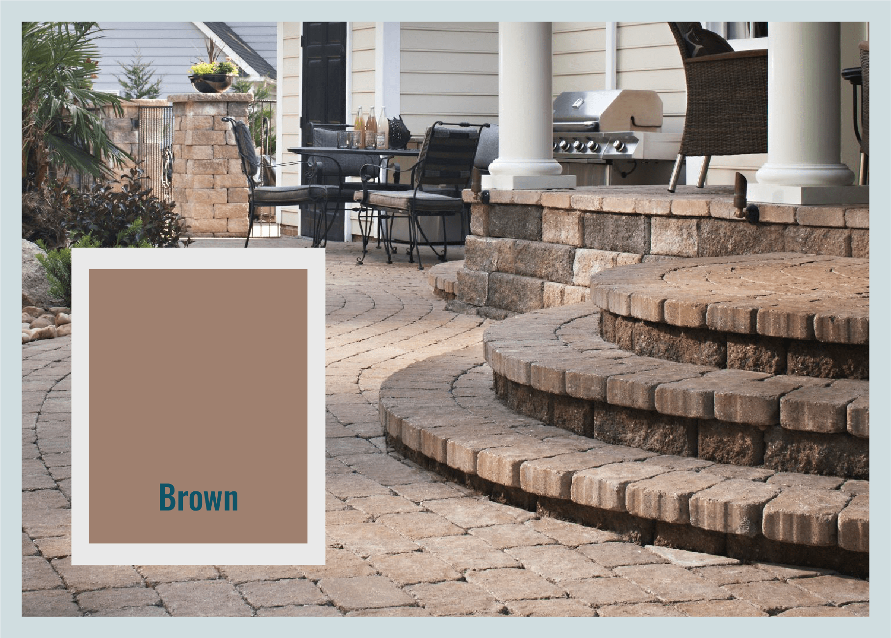 brown pavers