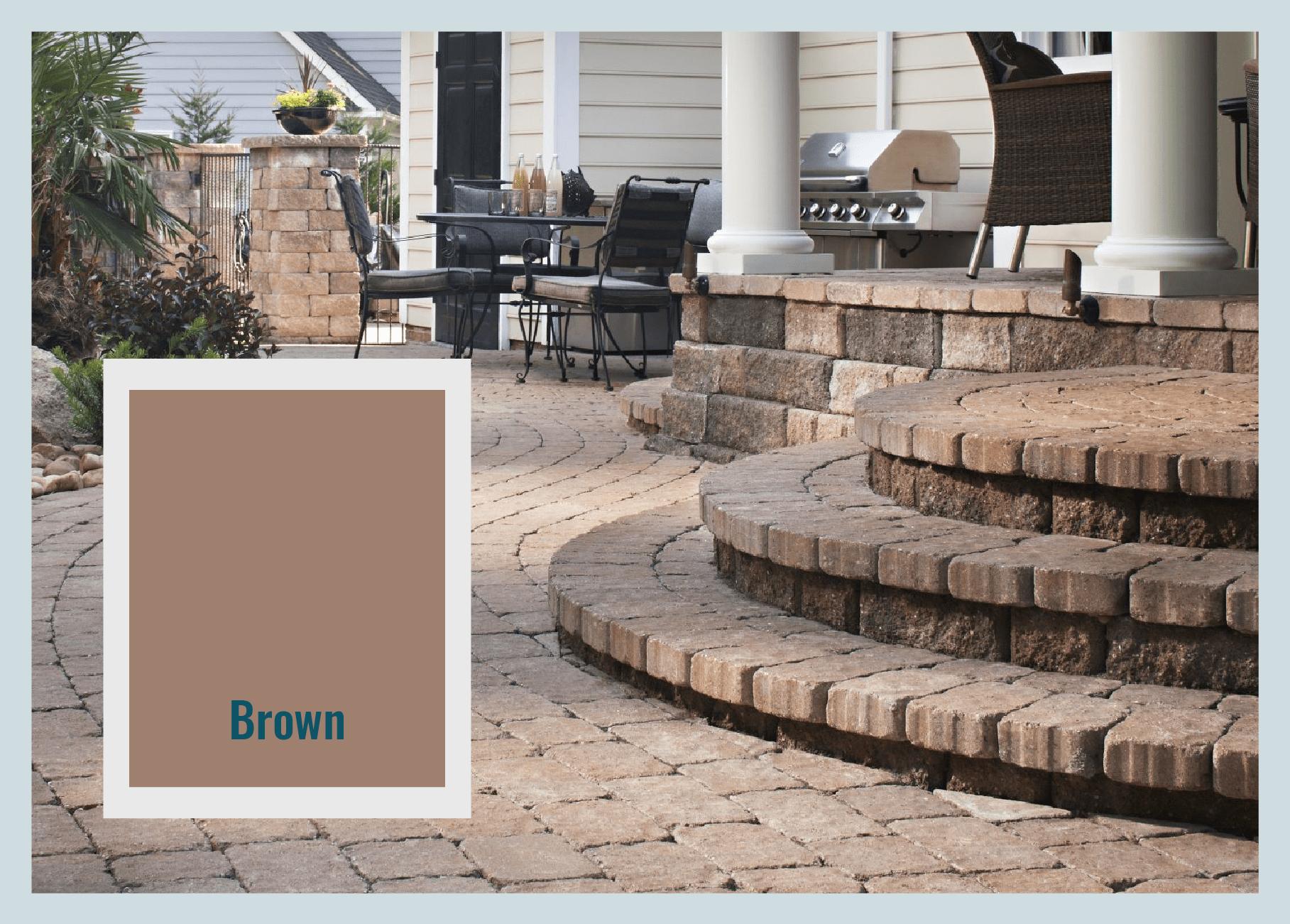 brown pavers