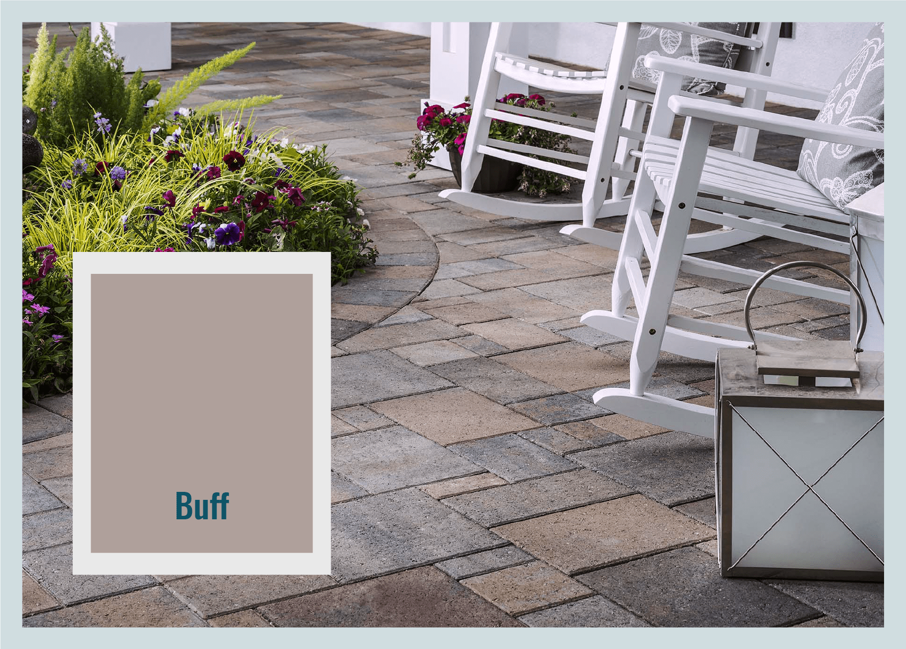 Buff pavers