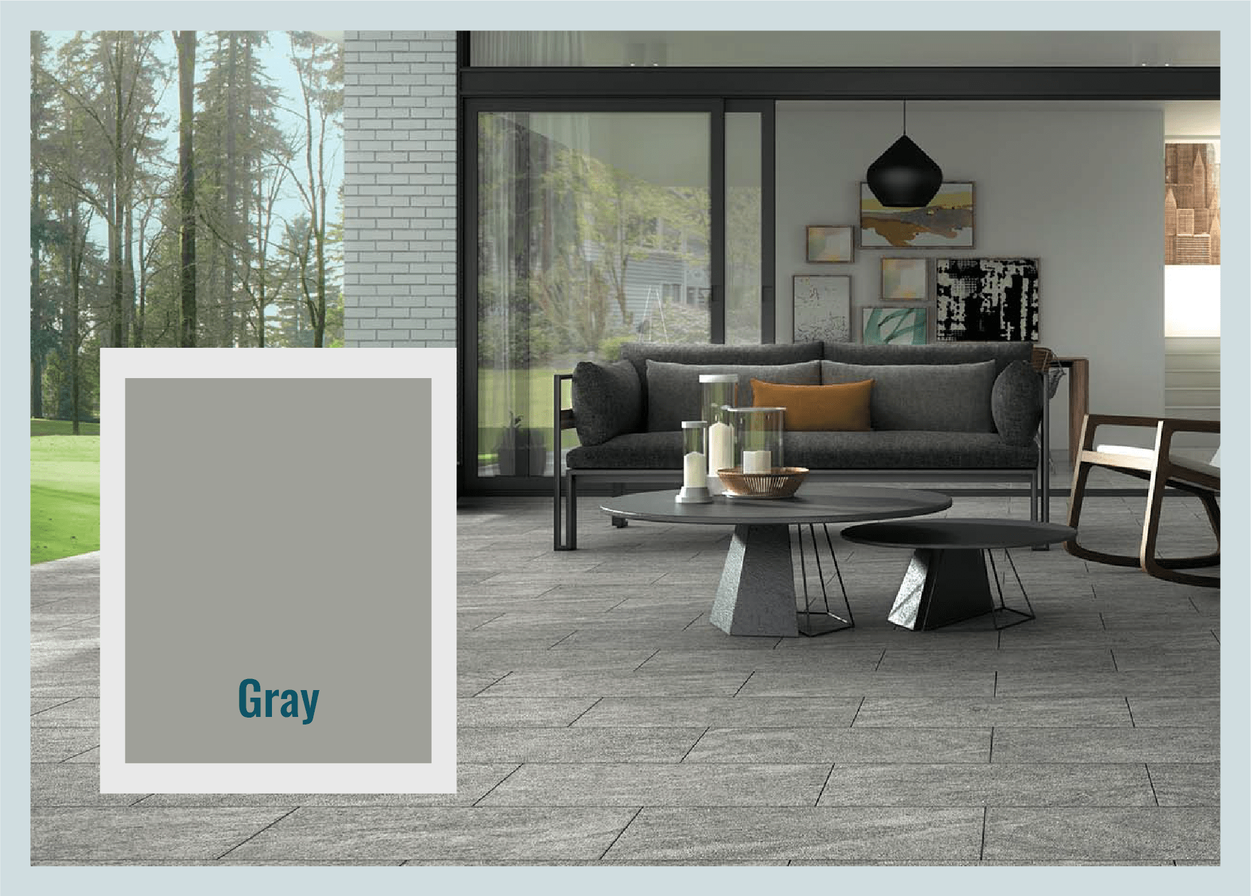 gray pavers