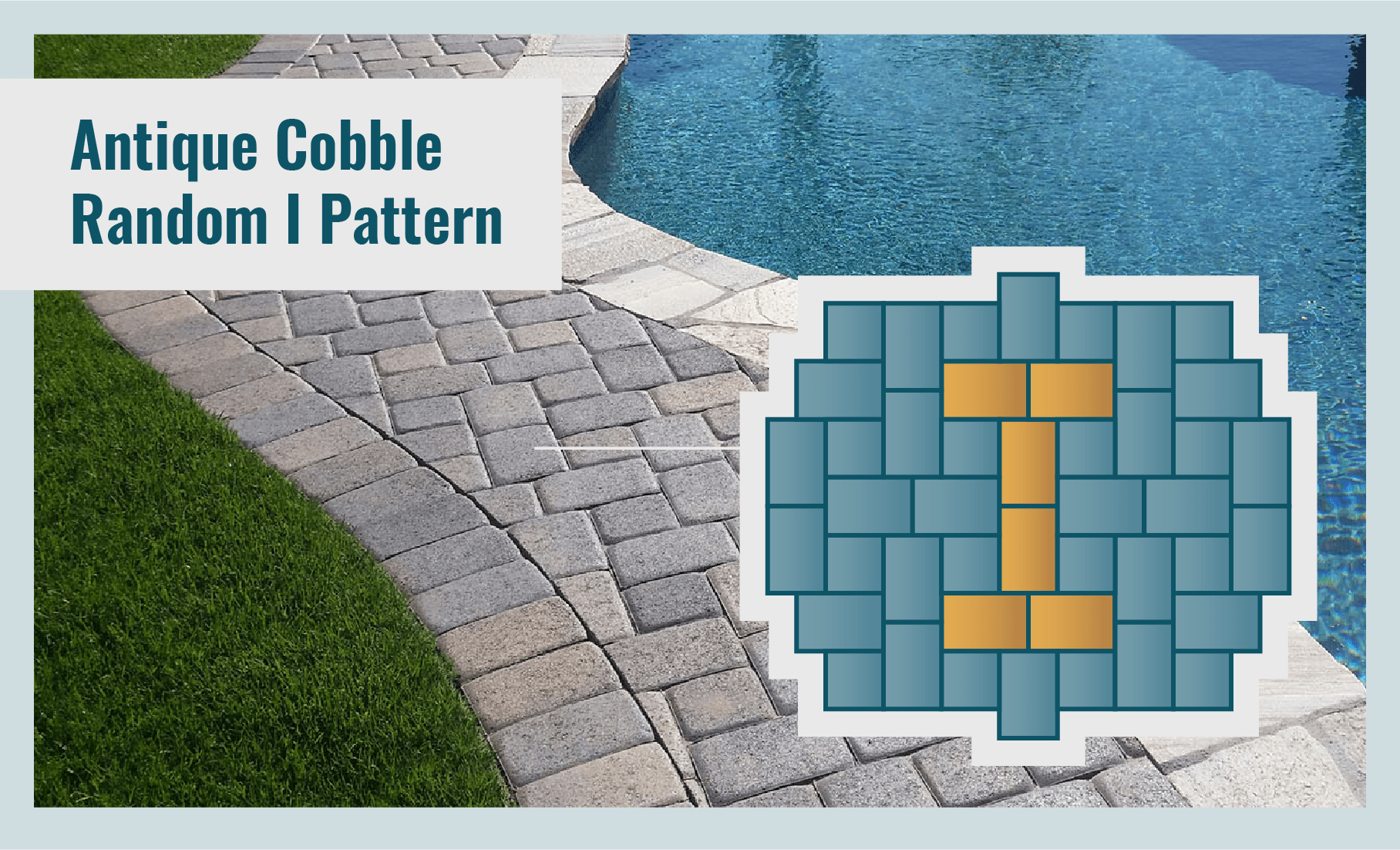 Antique Cobble Random I Paver Laying Pattern
