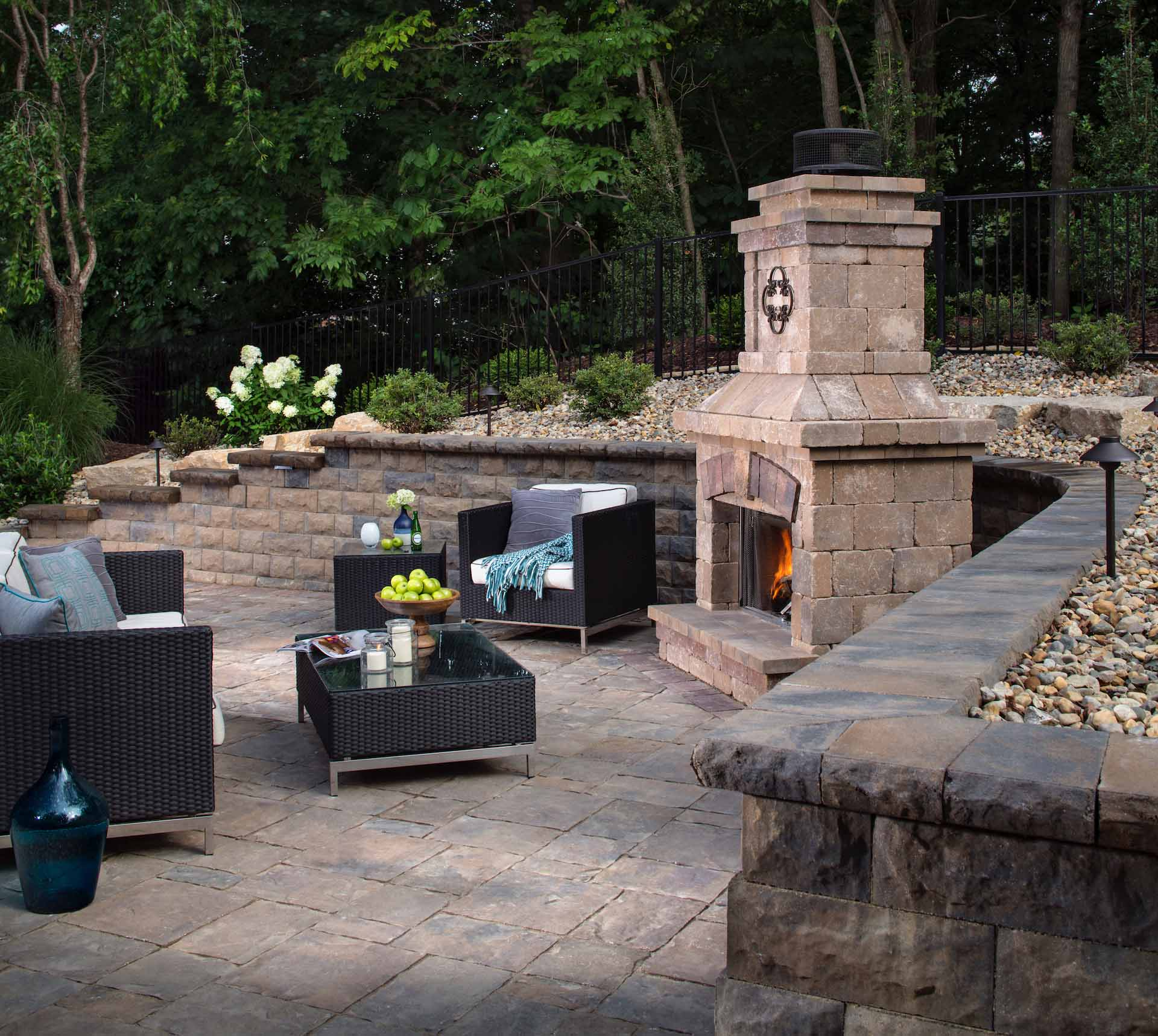 Custom Outdoor Fireplace Installation In San Diego