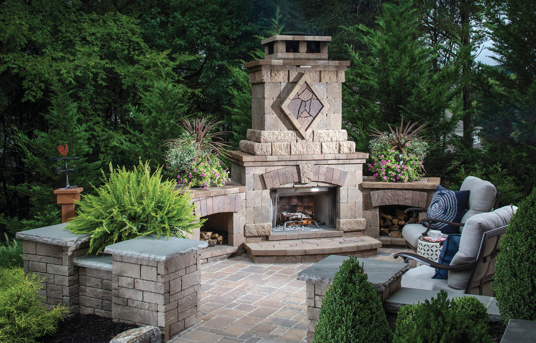 Image of: 45 Beautiful Outdoor Fireplace Ideas Install It Direct